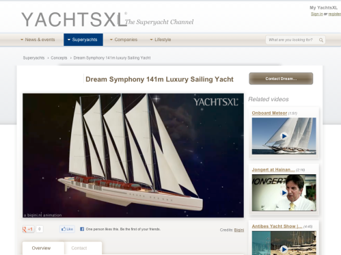 Discover Dream Symphony, the bigger Luxury Sailing Yacht: 141 meters!!